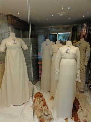 Regency dresses at the Fashion Museum