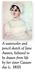 Portrait of Jane Austen by her sister, Cassandra