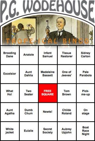 Wodehouse-Bingo-card